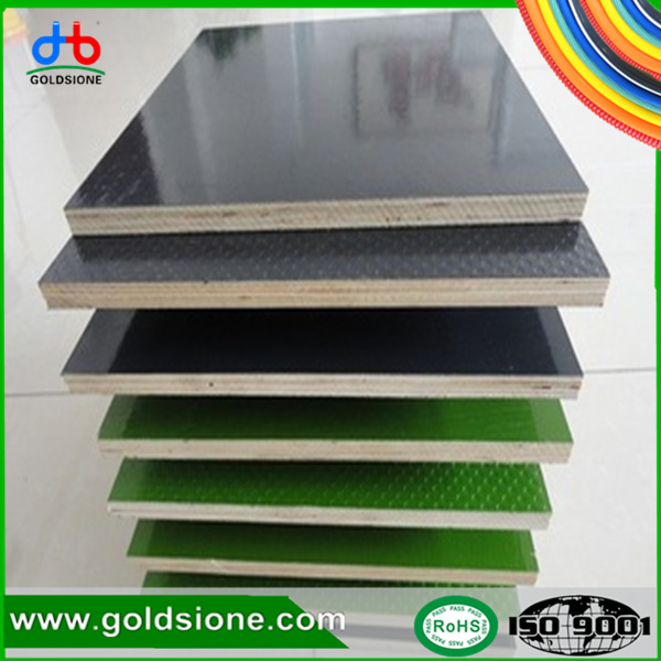 Poplar Construction Film Faced Plywood ,Hard-wood Veneer Laminate