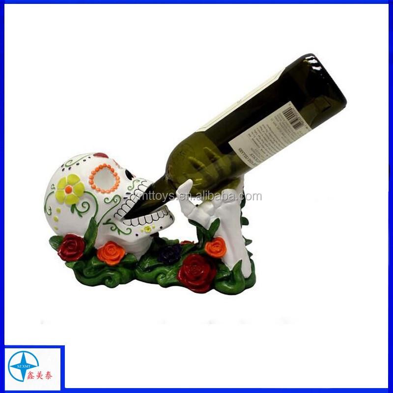 Beber Gallo Vino Botella Estatua Granja Del País Decoración De La ...