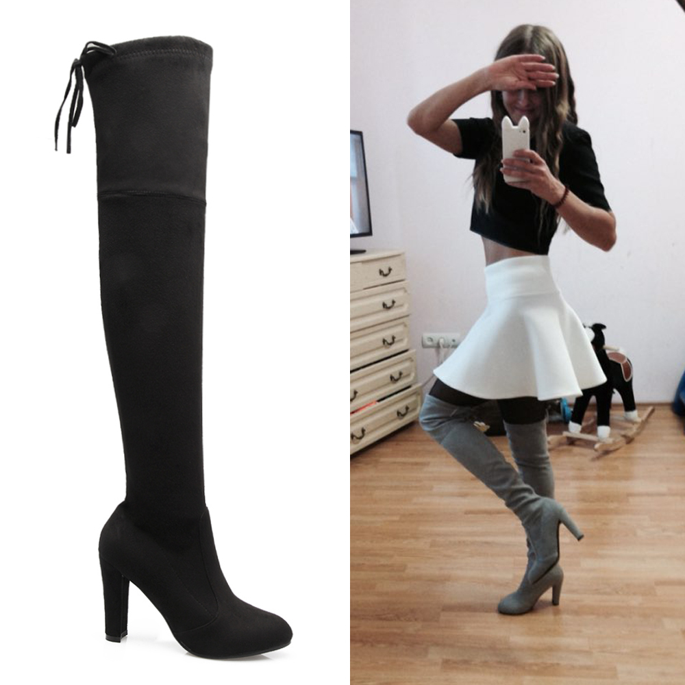 Popular Lace up Thigh High Boots-Buy Cheap Lace up Thigh