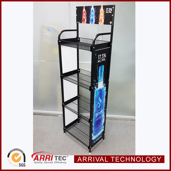 Cheap Price China Supplier Metal Storage Free Standing 4 Shelves Wine  Liquor Beverage Drinks Wire Display Rack - Buy Wire Display Rack,Wire  Display