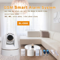 wireless home security burglar alarm system 3g sim card ip camera app control smoke/fire/gas/CO detector alarm system