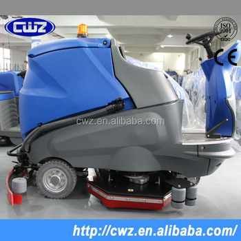 Commercial Ride On Large Floor ScrubberFloor Cleaning Machine - Used riding floor scrubber for sale