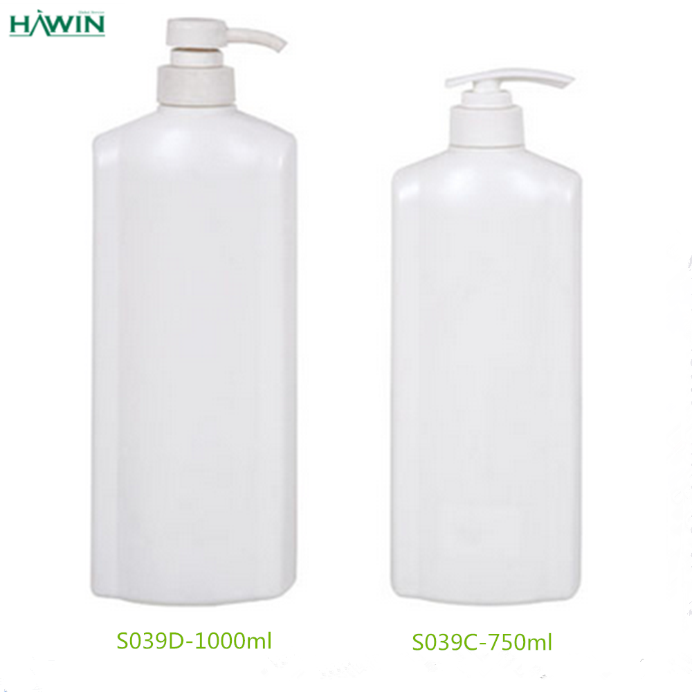 Hdpe 1 Litre Plastic Bottle With Pump For Shampoo Shower
