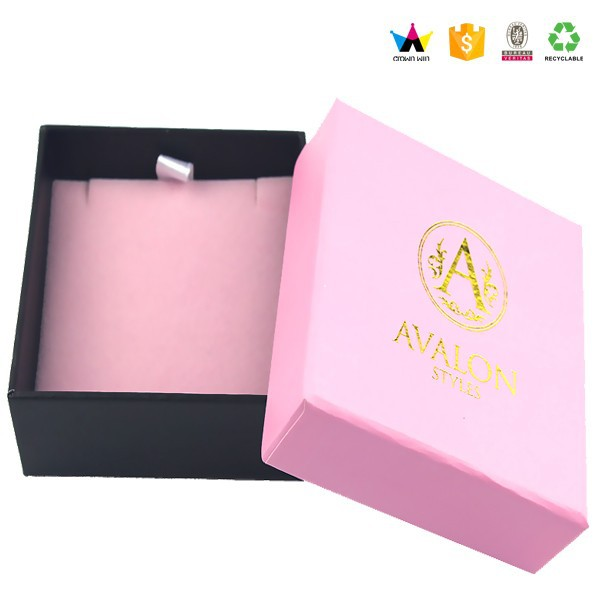 Handmade Custom Print Paper Jewelry Box Package