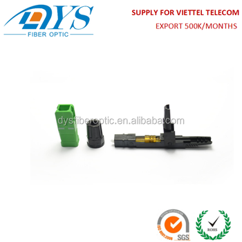 Field Terminated Quick Assembly FTTH SC APC Fiber Optic Fast Connector