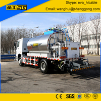 8000 Liter Asphalt Rubber, Computerized Asphalt Spraying Machine