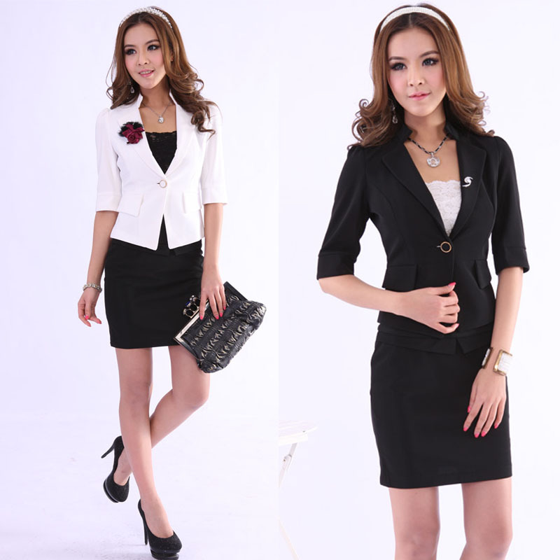 b2f028ee804 Get Quotations · 2014 Rushed Skirts Women Suits Skirt The New Hotel Front  Desk Uniform Dress Clothing Fashion Sexy