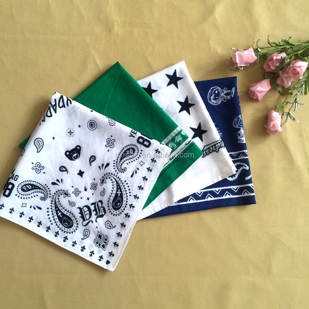 2014 Popular Cotton Printed Promotion Handkerchief
