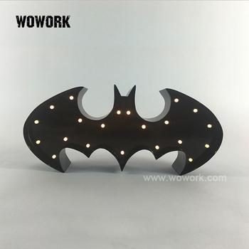Led Batterie Batman Logo Festzelt Licht Fur Kinderzimmer Dekoration Buy Batman Logo Festzelt Licht Fur Kinderzimmer Dekoration Product On
