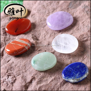 Wholesale Natural Gemstone Chakra Pocket Palm Stone Set