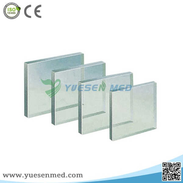 2mmPb customized size radiation x ray protective x-ray lead glass