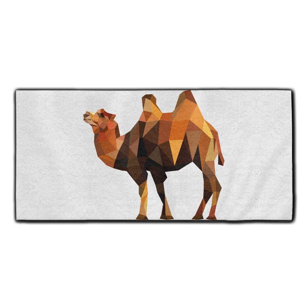 Baerg Microfiber Super Absorbent Face Towel Geometry Camel Hair Care Towel Gym Spa Towel