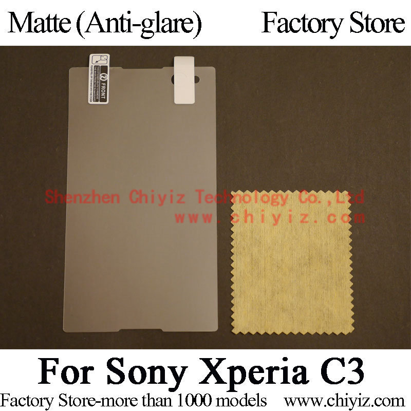 Matte Anti glare Screen Protector Guard Cover protective Film For Sony Xperia C3 dual D2502 D2533