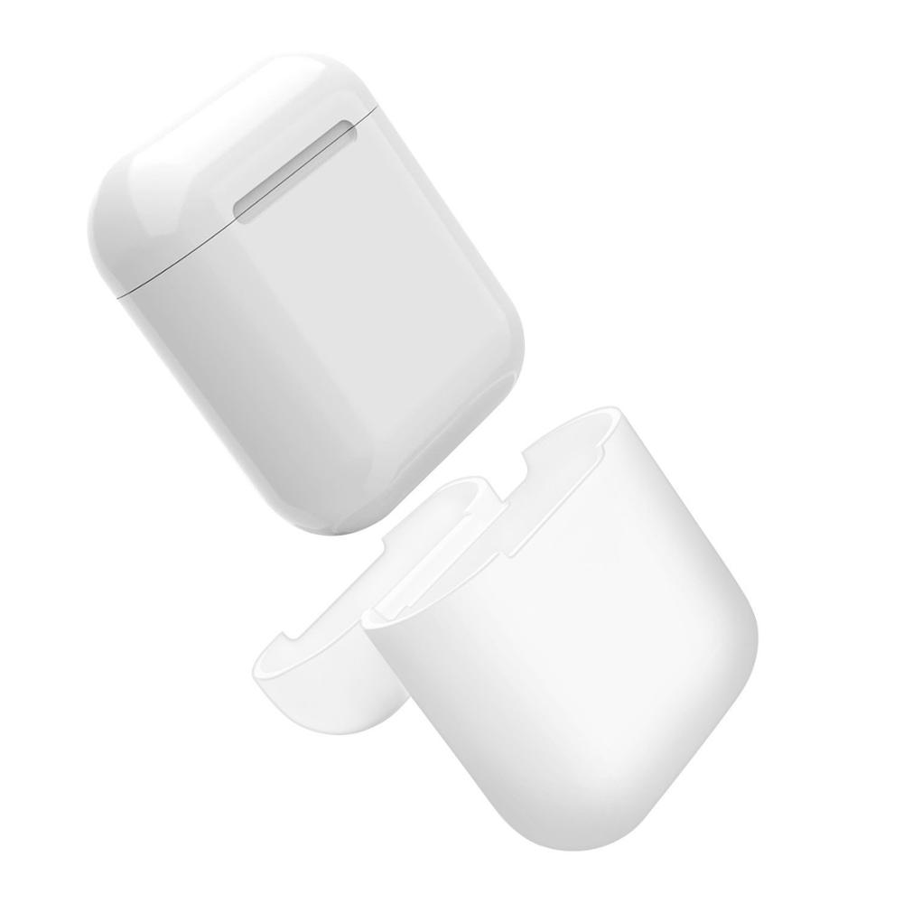 OEM Custom color soft Silicone Cover for AirPods Wireless Earphone Charging Box