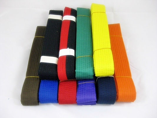 Fashion Taekwondo/karate belt with ten colors