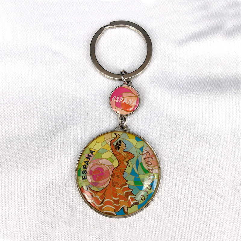 Custom made fancy metal key ring, promotional key chain, cheaper key chain pendant