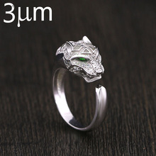 Luminous Ring Tier Cheetah Leopard Kopf Glow In The Dark AAA Zirkon Mikro Gepflastert Fluoreszierende Glowing Ringe für Partei