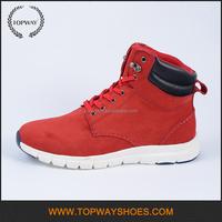 Fashion european casual red genuine leather winter high-top european mens boots