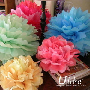 Event & Party Supplies Type and Wedding Occasion Party decorative tissue paper pom pom