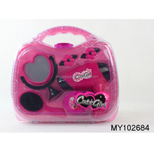 hot sale hairdresser accessories with hair dryer toy for kids carry box set