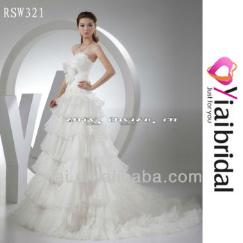 Rsw321 Boob Tube Top Wedding Dress - Buy Wedding Dress,Drop Down ...
