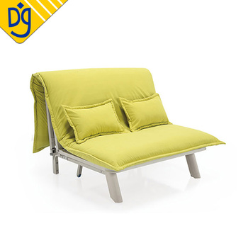 Yellow Funky High Quality Iron Frame Futon Sleeper Sofa
