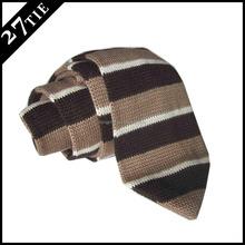 Hot selling wool tie/point end shape knitted tie