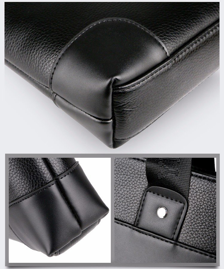 Fashion Business Casual Waterproof PU leather Handbag Men Crossbody Shoulder Laptop bag Briefcase