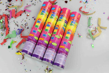 wedding streamer party poppers 30cm colored paper popper and firecrackers