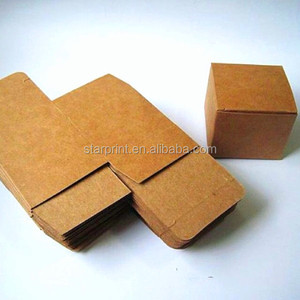 brown kraft cube paper box 10x10x10cm