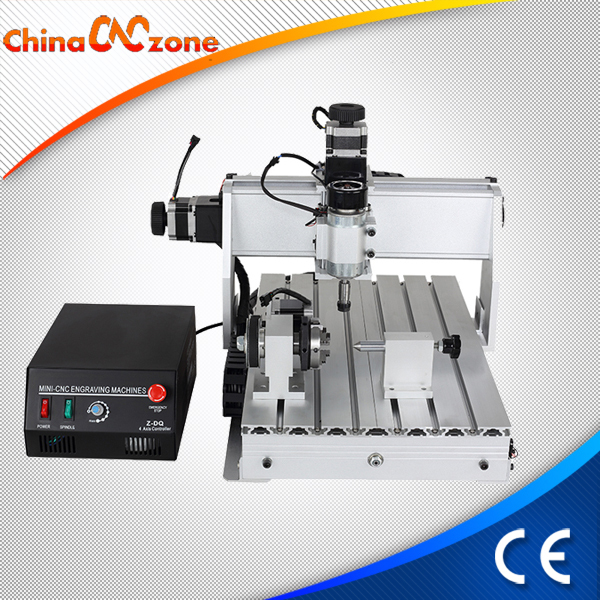 mini CNC milling machine 4 Axis 3040Z-DQ for aluminum drilling and engraving