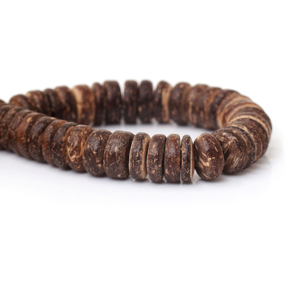 Coconut Shell Spacer Beads Flat Round Coffee About 10mm Dia,Hole:About 1mm,41cm,3 Strands(About 112 PCs/Strand) 2015 new