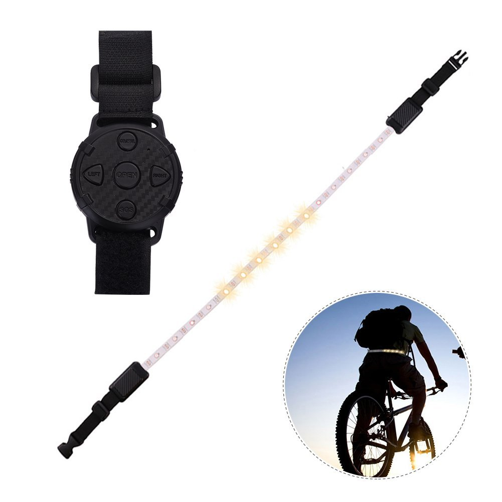 SHZONS LED Waist Belt, Rechargeable Cycling Warning Turn Signal Light,Reflective Belt for Running,Walking,Climbing & Cycling