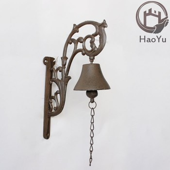 Attrayant European Flower Shaped Cast Iron Hanging Door Bell For Garden Decoration
