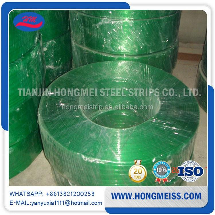 สายรัดพลาสติก PET สีเขียวคุณภาพสูงพร้อมแรงดึงสูง 12 มม. 19 มม. 16 มม. 25 มม