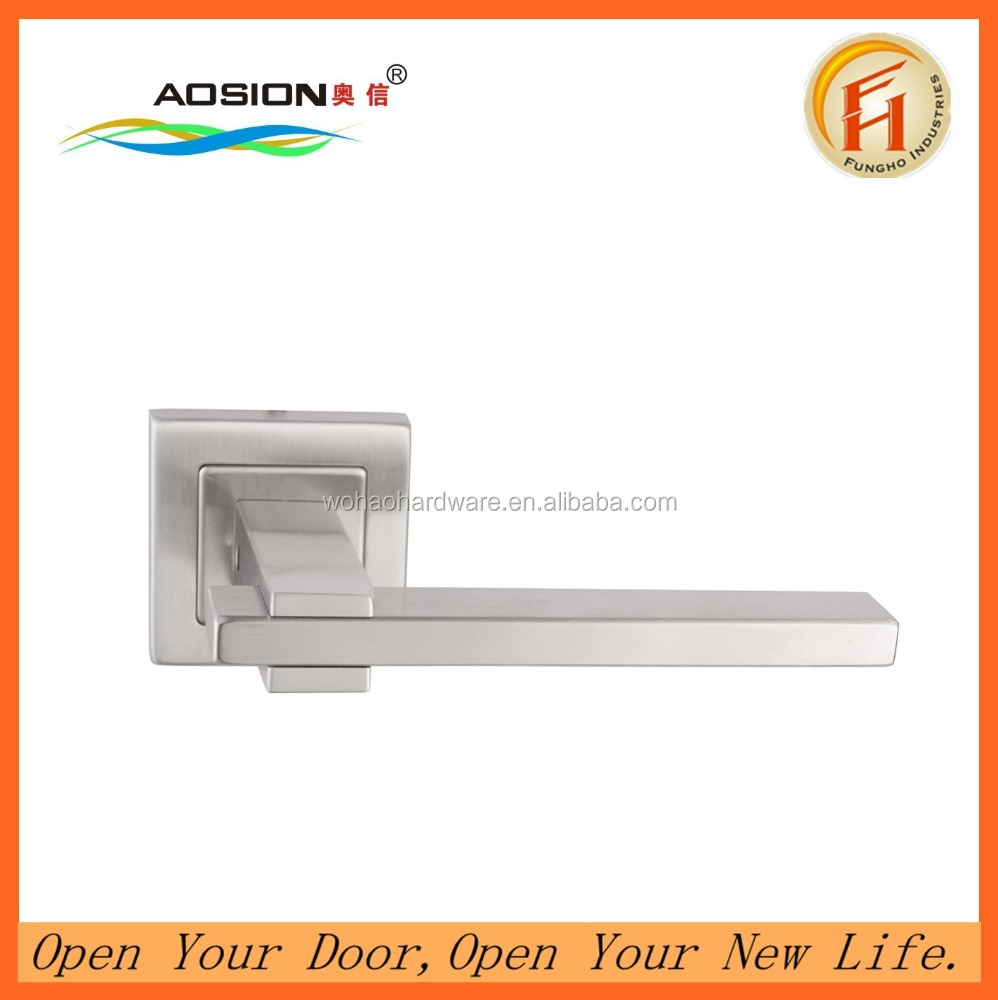 Square hollow stainless steel folding door lever handle