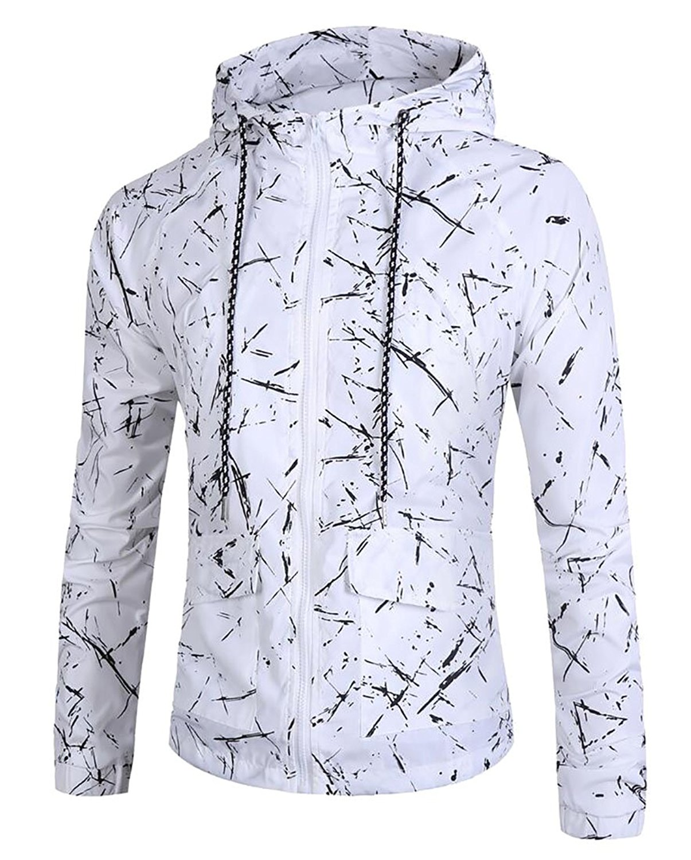 XXBlosom Men Fashion Hooded Pure Colour Pocket Sweatshirts Jacket
