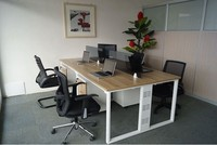 metal cheap office system furniture 4 people office desk with cabinet