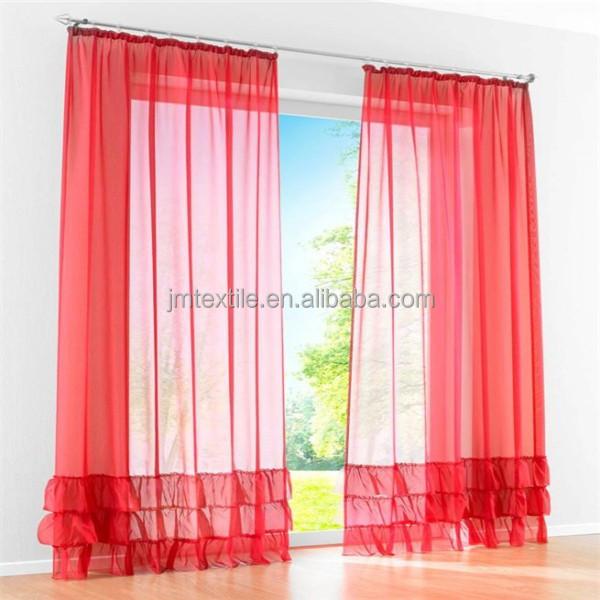 pura cortina roja tejido gasa tejido para cortinas