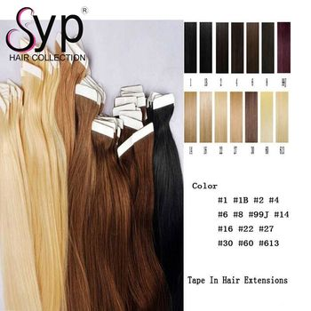 Hot Sale #27 #613 #60 #99j #2 #30 Piano Color Skin Weft Tape In Hair Extensions Virgin Human Hair Skin Invisible Tape Hair