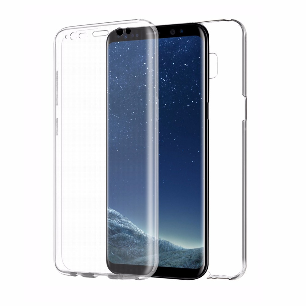 Lumei Original Crystal Clear Soft TPU 360 Degree Full Cover Case For Samsung Galaxy S8