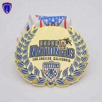 USA Custom Crafts Made Souvenir Gold Award Metal dragon medal for lacrosse sports club
