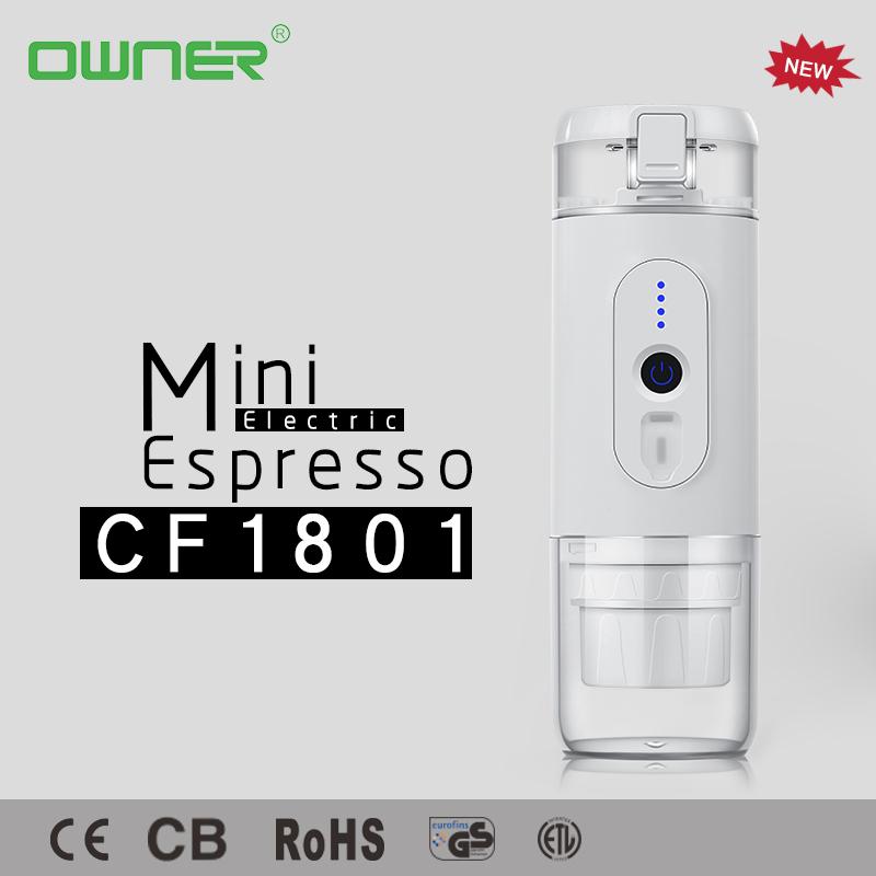 Portable heating water mini espresso coffee machine CF-1801BGC