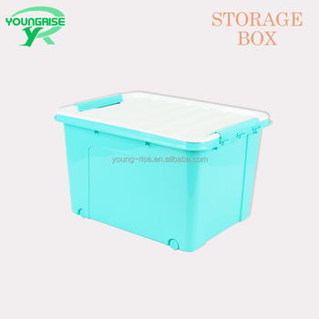 Wholesale Decorative 40L Plastic Storage Boxes,Clear Storage Container Bins  With Lid