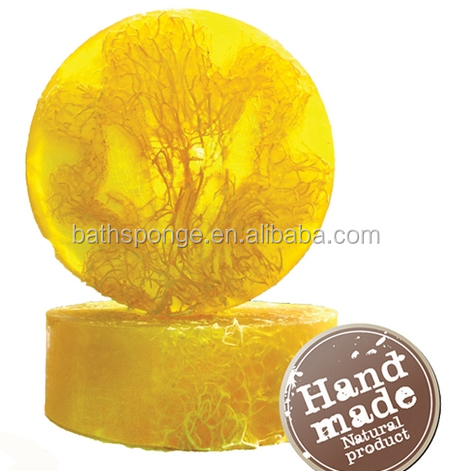 (SO-001-D)Handmade natural Loofah soap cold process with glycerinum -citronella