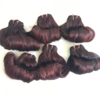 Wine Color Magic Curly or Funmi Curls Hair Extensions from High Quality Hair Source from Vietnam Hair Supplier