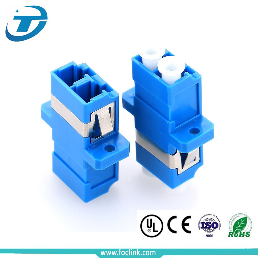 FTTH Duplex SC Type LC UPC to LC UPC Plastic Fiber Optic Adapter/Coupler