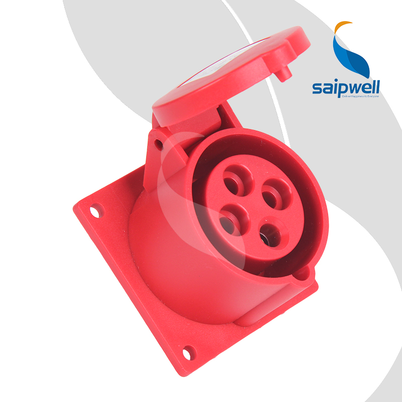 SAIPWELL China Supplier 4P 16A IP44 Waterproof Electrical Industrial Socket
