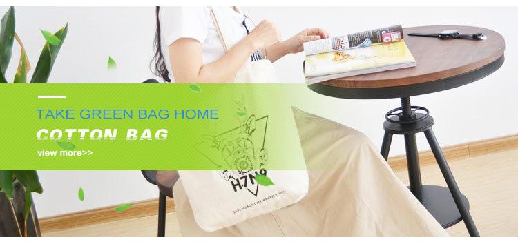 高品質メーカーのプロモーションカスタムロゴ綿バッグエコフレンドリーなキャンバスバッグ