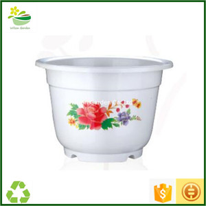 Wholesale nursery supplies plastic pots colored plant pots indoor